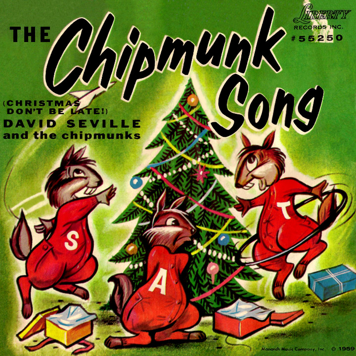chipmunks singing christmas christmas time is here time for fun and time for cheer