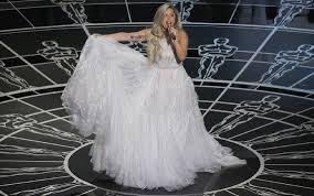 Gaga flips skirt