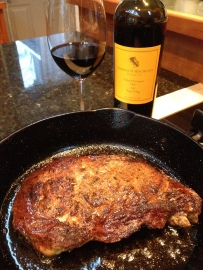 Blackened steak