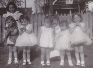c. 1955 with my cousins in our Easter finery