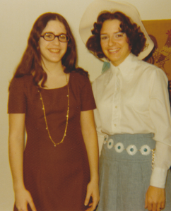 Easter 1971, right after spring break --- too tan, too much white pearlized eyeshadow