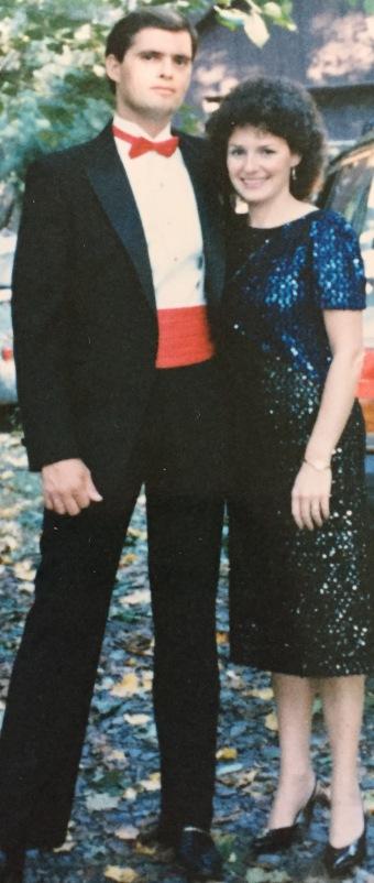 1986, when I was still a brunette.