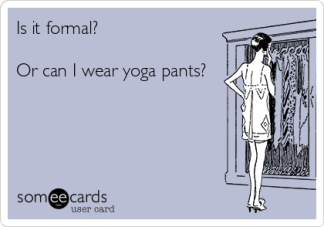 Yoga pants meme